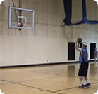 John shooting free throws