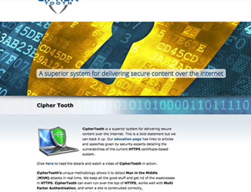CipherTooth Responsive Website