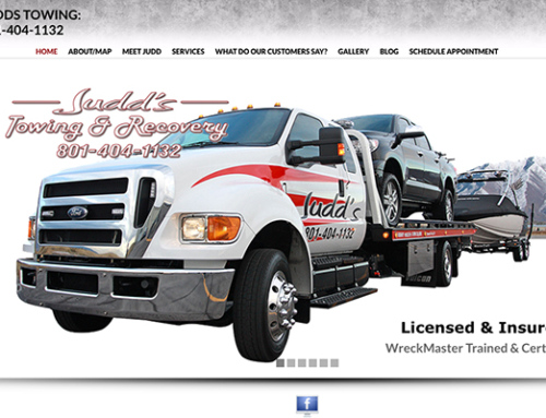 Judd's Towing Services Responsive Website