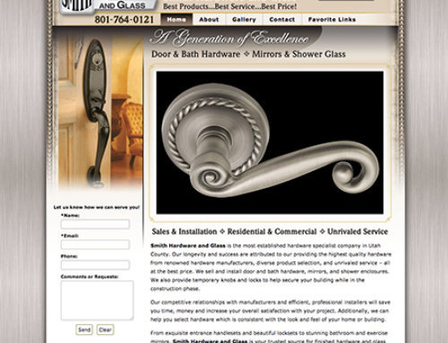 Smith Hardware and Glass Website