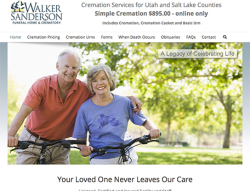 Utah Cremation (Walker Sanderson Funeral Home) Responsive Website