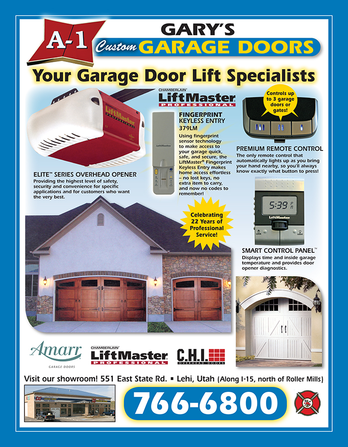 A 1 garage door yellow page ad 2 taylor graphics llc for Garage ad breuillet
