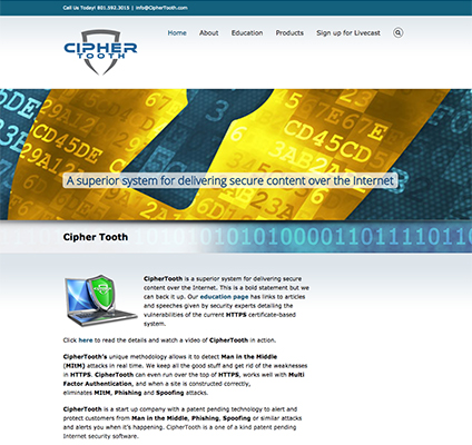 CipherTooth Responsive Website Design