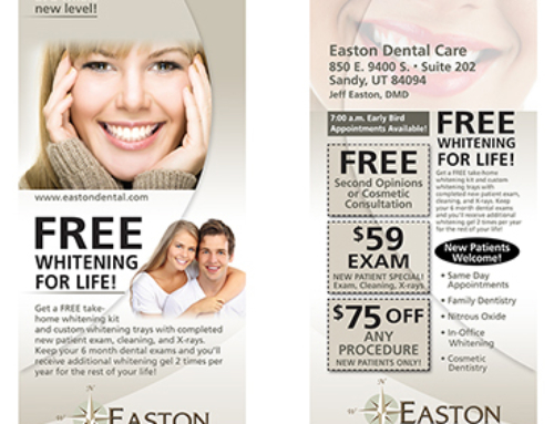 Easton Dental Care Door Hanger Card