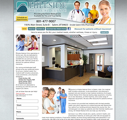 Hillside Medical Custom Website Design