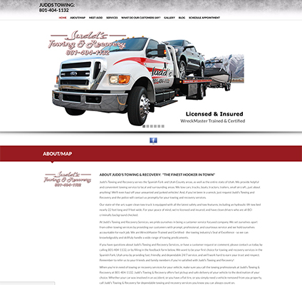 Judd's Towing Responsive Website Design