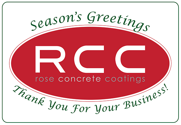Rose Concrete Coatings Holiday Box Label Design