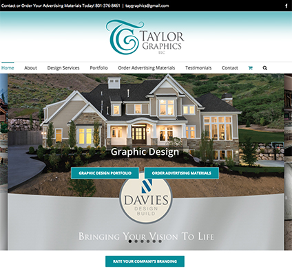 Taylor Graphics Responsive Website Design