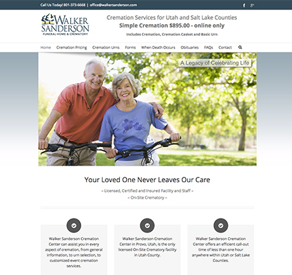 Walker Sanderson Cremation Responsive Website Design