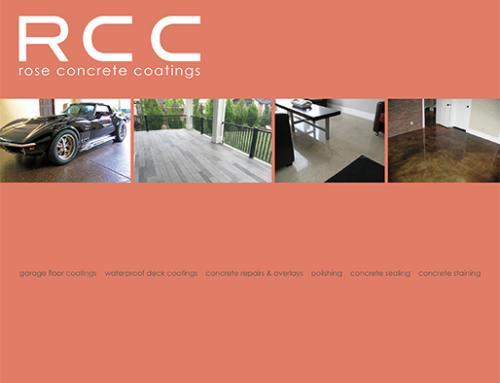 Rose Concrete Coatings 24-Page Portfolio Brochure