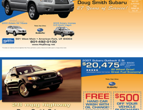 Doug Smith Subaru Postcard – Direct Mail