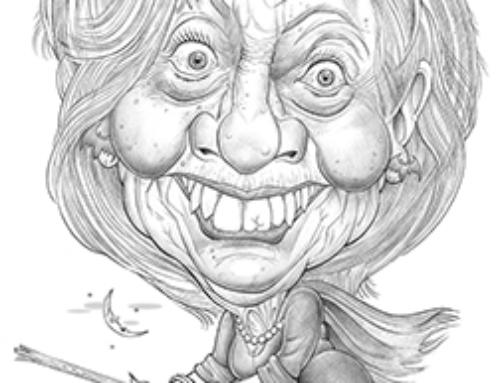 Hillary Clinton Caricature – Pencil