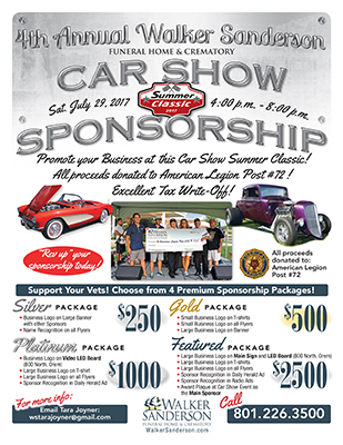 Walker Sanderson Car Show Flyer Design Taylor Graphics LLC - Show car sponsorship