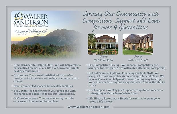 Walker Sanderson Funeral Home Community Services Card Design