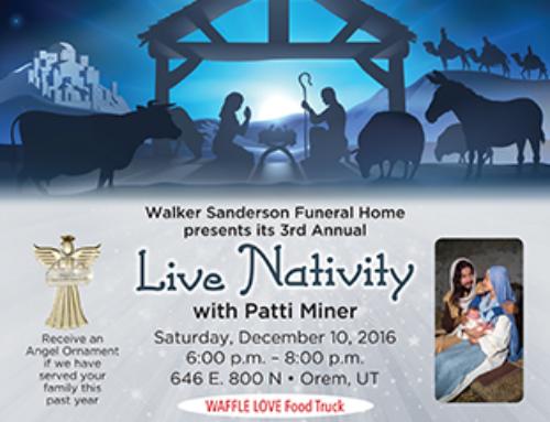 Walker Sanderson Live Nativity Flyer Design