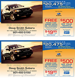 Doug Smith Autoplex Direct Mail Postcard Design