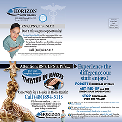 Horizon Home Health Postcard Design